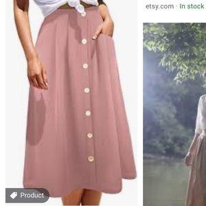 Vintage a line skirt high waisted